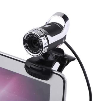 12M Pixels Clip-on Webcam HD 360° Rotating Stand Built-in Microphone for PC Silver - intl Price Philippines