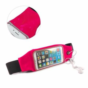 Harga Screen Touch Waterproof Waist Bag Pouch Case for iPhone 6Plus/6sPlus (Pink)