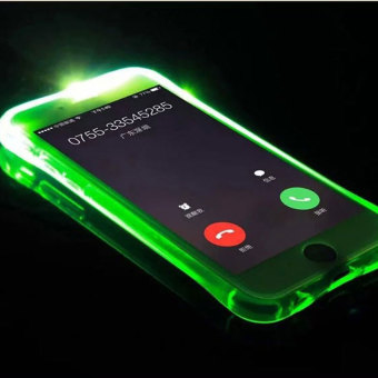 TTLIFE Colorful Flashing phone calls case Samsung S6 edge emitting (green) Price Philippines
