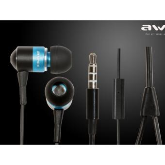 Harga Awei ES-Q3 In-Ear Earphone Noise Isolation (Blue)