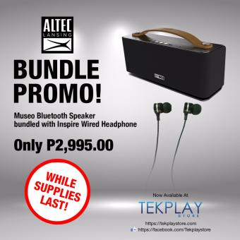 Altec Lansing Museo Bundled with Altec Lansing Inspire Earphone Price Philippines