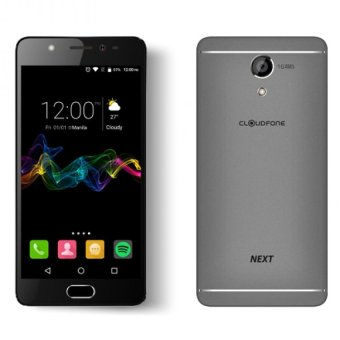 Harga CloudFone Next 32GB (Grey) with Free Jelly Case, Faux Leather Flip Case and Screen Protector