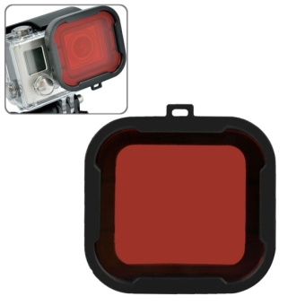 Harga Polar Pro Aqua Cube Snap-on Dive Housing Filter for GoPro HERO4 /3+(Red)