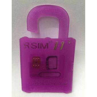 Harga R-SIM RS-11 11 The Best Unlock and Activation SIM for iPhone 4S/5/5C/5S/6/6Plus/7/7Plus (Pink)