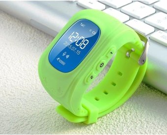 Harga Q50 GPS Watch Kids Locator Tracker Anti-Lost GPS Watch for iOS Android(Green) - intl