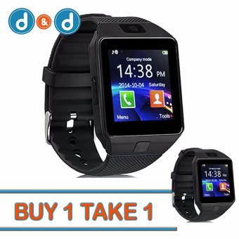 Harga D&D DZ09 Smartwatch for Android and iOS Buy1 Take1 (Black)