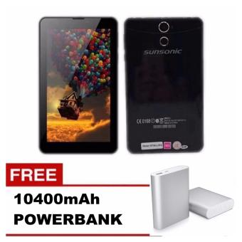 "Sunsonic L08A 7"" 3G Dual Sim Cellular Tablet 8GB w/ Free 10400mah Power Bank (Black) Price Philippines"