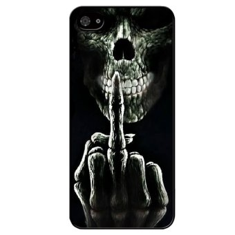 Harga Y&M Skull Phone Case for Iphone 5/5S (Black)