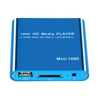 Blue Mini Full HD 1080P Digital Streaming Media Player - Intl Price Philippines