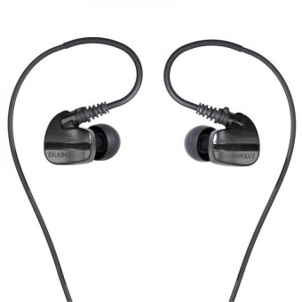 Harga Brainwavz XFit XF-200 Noise-Isolating Sport IEM Earphones with 3-Button Remote and Microphone (Black)