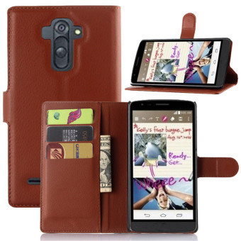 PopSky Wallet Case for LG G4 Stylus (Brown) Price Philippines