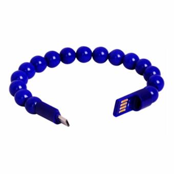 IDEAL1 Beads Bracelet USB Lightning Cable 24cm Suitable For Samsung Galaxy S3 / S4 / Note 2 / Note 4 / s6 / s6 edge / s7 / s7 edge (blue) Price Philippines