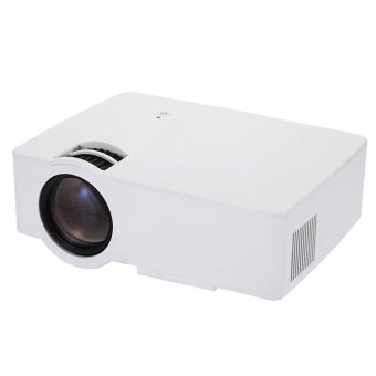 EU PLUG E08 LCD Projector 2500 Lumens 800 x 480 Pixels 1080P Home Theater - intl Price Philippines