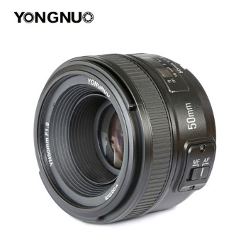 Harga Yongnuo 50mm F1.8 1:1.8 Auto Manual Focus AF MF Standard Prime Lens for Nikon Cameras Lens