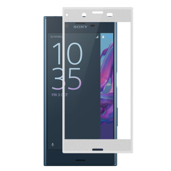 PopSky Tempered Glass Carbon Fiber Premium 9H Film Screen Protector for SONY XPERIA XZ (Silver Price Philippines