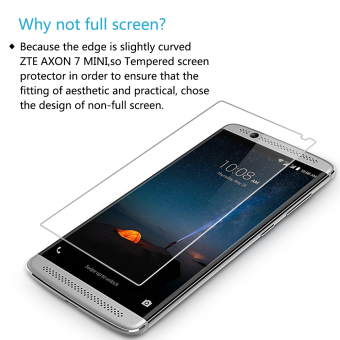 PopSky Clear Tempered Glass Premium 9H Film Screen Protector for ZTE AXON 7 Mini Price Philippines