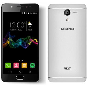 Harga CloudFone Next 32GB (Silver) with Free Jelly Case, Faux Leather Flip Case and Screen Protector