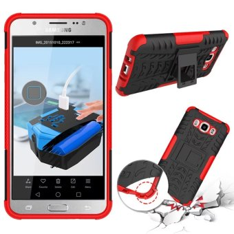 BYT Rugged Dazzle Case for Samsung Galaxy J7 2016 with Kickstand (Red) Price Philippines