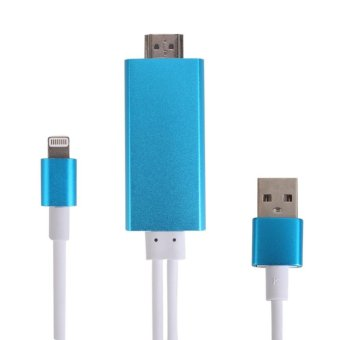 8 Pin To HDMI HDTV HD AV Charging Cable Cord Compact For Apple iPhone iOS - intl Price Philippines