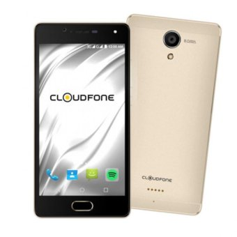 Harga Cloudfone Thrill Access 16GB (Gold) with Free Spotify Earphones and Protective Cover