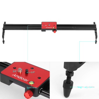 Harga Andoer 60cm Video Track Slider Dolly Track Rail Stabilizer Aluminum Alloy for Canon Nikon Sony Cameras Camcorders Max Load Capacity 6Kg - intl