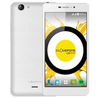 Harga Cloudfone Excite Prime 16GB (White) with Free Spotify Edition Earphones/Back Cover Case/ Screen Protector