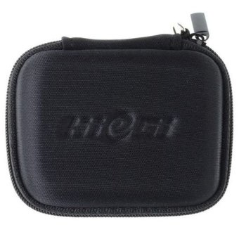 Harga HieGi High Quality Pocket Carry Case Earphone Bag For MP3 Earphones Earbuds Black