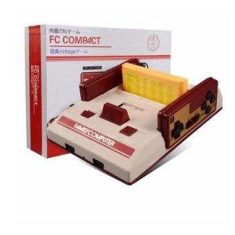 Harga FC Compact Classic Family Computer with Built in 100 Games and 132 Games External Game Cartridge(Red)