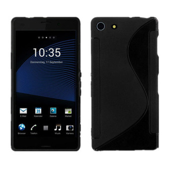 Harga S-Line TPU Silicone Skin Case for Sony Xperia Z3 Mini Compact Black - intl