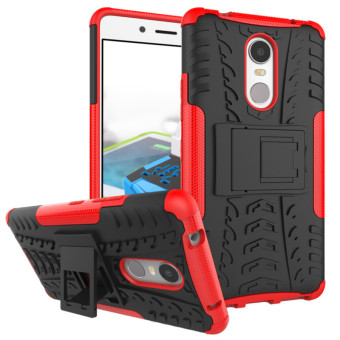BYT Rugged Dazzle Case for Lenovo K6 Note with Kickstand (Red) Price Philippines