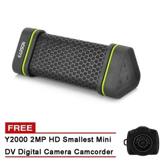 EARSON ER151 Waterproof Shockproof Sports Bluetooth Speaker with FREE Y2000 2MP HD Smallest Mini DV Digital Camera Camcorder Price Philippines