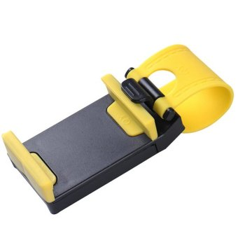 Universal Car Steering Wheel Mobile Phone Holder (Yellow) Price Philippines