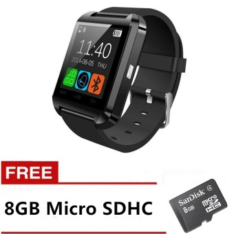 Harga C-001 Bluetooth v3.0 Touch Screen Smart Watch (Black) with FREE Micro SD 8GB