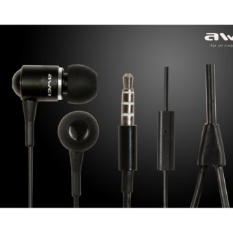 Harga Awei ES-Q3 In-Ear Earphone Noise Isolation (Black)