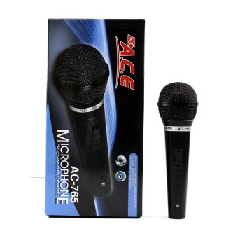 Ace AC-765 Professional Uni-directional Dynamic Wired Microphone (Black) Price Philippines