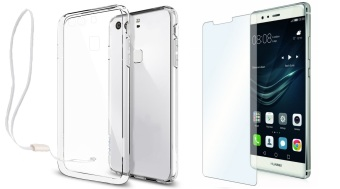 Harga Xundd Ultra Thin Silicone Case with Lanyard for Huawei P9 Bundled with Tempered Glass (Clear)