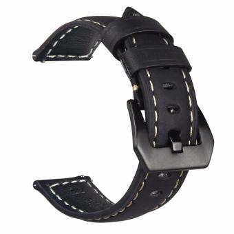 Samsung Gear S3 S2 Premium Leather Watchband Bracelet Strap for Samsung Gear S3 S2 (Black) Price Philippines