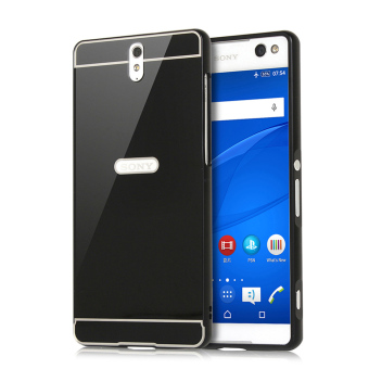 PopSky Ultra Shockproof Aluminium Bumper Case for Sony Xperia C5 (Black) Price Philippines