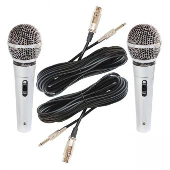Ballantines VA-9000 Professional Hyper-Cardioid Dynamic Microphone Set of 2 (Silver) Price Philippines