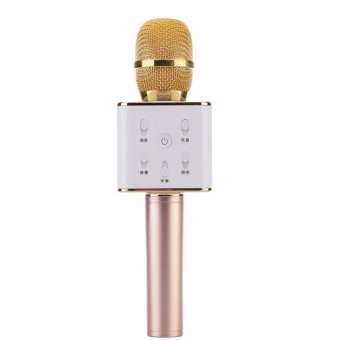 Toy Collections Q7 Wireless Bluetooth Microphone & HIFI Speaker (Gold) Price Philippines