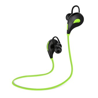 Harga QCY sets QY7 sports wireless bluetooth 4.1 EDR headphones stereo earphones headset with Mic earbuds for iPhone 7 Android Phone(Green) - intl