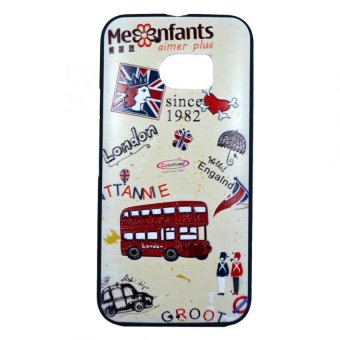 Harga Beige London Design Embossed TPU Case for HTC 10