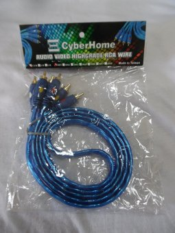 CyberHome 3M RCA Wire 2x2 HD (Blue) Price Philippines