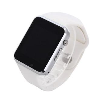Harga A1 Wrist Watch Bluetooth SmartWatch Sport Pedometer Smartwatch(White) - intl