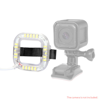 Harga Andoer USB LED Light Ring for GoPro Hero4 Session Action Camera only Andoer