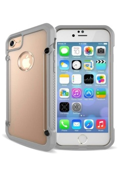 Harga Rainbow Defender Shockproof Case for Apple iPhone 7 Plus (Clear/Grey)