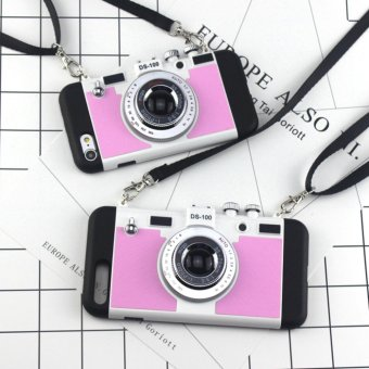 Harga Retro camera lanyard drop Case For IPhone 7 Plus