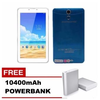 "Sunsonic L08A 7"" 3G Dual Sim Cellular Tablet 8GB w/ Free 10400mah Power Bank (Blue) Price Philippines"