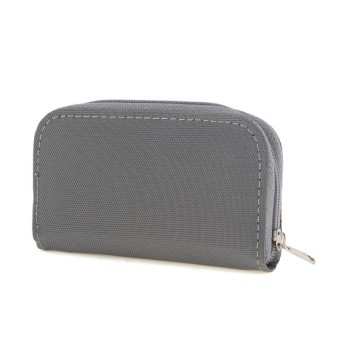 Harga SDHC MMC CF Micro SD Memory Card Storage Pouch Case Holder Carrying Bag Gray
