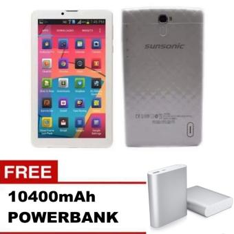 "Sunsonic L04A 7"" 3G Dual Sim Cellular Tablet 8GB with free 10400mAh Power Bank Price Philippines"